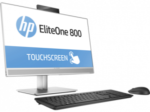"1KA81EA#ACB HP EliteOne 800 G3 All-in-One 23,8""Touch (1920 x 1080),Core i5-7500,8GB DDR4-2400 SDRAM,1TB,DVDRW,Wrless kbd&mouse,Recline Stand,Intel 8265 AC BT,Win1"
