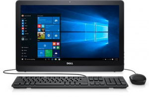 "3264-9906 Моноблок Dell Inspiron 3264 21.5"" Full HD i3 7100U (2.3)/4Gb/1Tb 5.4k/HDG620/DVDRW/Windows 10 Professional 64/GbitEth/WiFi/BT/Cam/черный 1920x1080"