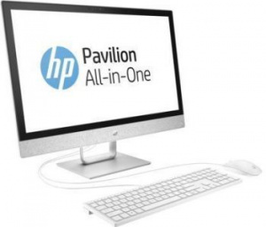 "2MJ53EA Моноблок HP Pavilion 24-r028ur 23.8"" Full HD P G4560T (2.9)/4Gb/1Tb 7.2k/HDG610/DVDRW/Windows 10/GbitEth/клавиатура/мышь/Cam/белый 1920x1080"