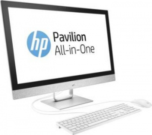 "2MJ77EA Моноблок HP Pavilion 27-r017ur 27"" QHD i7 7700T (2.9)/16Gb/2Tb 7.2k/SSD256Gb/530 2Gb/DVDRW/Windows 10/GbitEth/клавиатура/мышь/Cam/белый 2560x1440"
