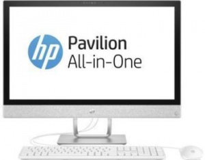 "2MJ50EA Моноблок HP Pavilion 24-r025ur 24"" Full HD Touch i7 7700T (2.9)/12Gb/2Tb 5.4k/530 2Gb/DVDRW/Windows 10/GbitEth/клавиатура/мышь/Cam/белый 1920x1080"