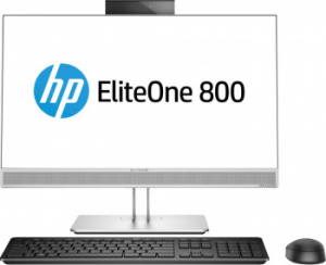 "4KX18EA Моноблок HP EliteOne 800 G4 23.8"" Full HD i7 8700 (3.2)/16Gb/SSD512Gb/UHDG 630/DVDRW/Windows 10 Professional 64/GbitEth/WiFi/BT/180W/Cam/серебристый 1"